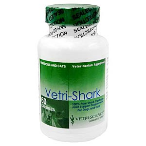 Vetri-Shark Connective Tissue Support for Cats and Dogs, 60 Capsules