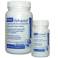 Virbantel Chewable Tablets for Small Dogs and Puppies, 50 Tablets