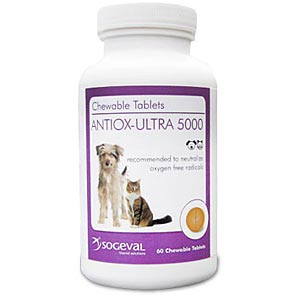 Antiox-Ultra 5000 for Dogs and Cats, 60 Chewable Tablets