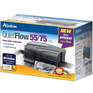 Aqueon QuietFlow 55/75 Filter, 400 gph