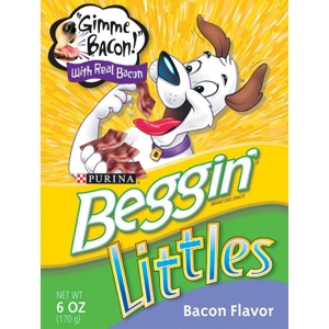 Beggin Littles Bacon & Turkey Flavor, 6 oz - 10 Pack
