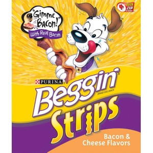 Beggin Strips Bacon & Cheese Flavor, 40 oz - 4 Pack