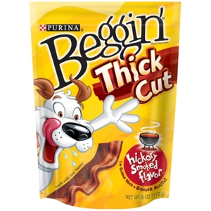 Beggin Strips Thick Cut Hickory Smoked Flavor, 6 oz - 10 Pack