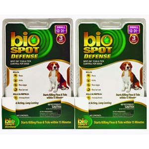 Bio Spot Defense Flea & Tick Spot On for Dogs 13-31 lbs, 6 Pack | VetDepot.com