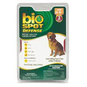 Bio Spot Defense Flea & Tick Spot On for Dogs 56-80 lbs, 3 Pack | VetDepot.com