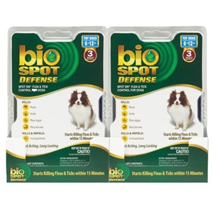 Bio Spot Defense Flea & Tick Spot On for Dogs 6-12 lbs, 6 Pack | VetDepot.com