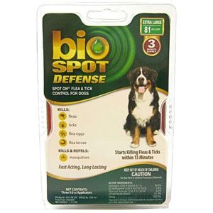 Bio Spot Defense Flea & Tick Spot On for Dogs 81 lbs & Over, 3 Pack | VetDepot.com