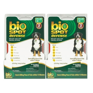Bio Spot Defense Flea & Tick Spot On for Dogs 81 lbs & Over, 6 Pack | VetDepot.com