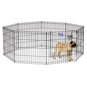 "Black E-Coat Exercise Pen, 24"" x 24"""