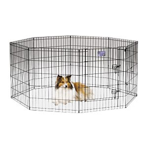 "Black E-Coat Exercise Pen, 30"" x 24"""