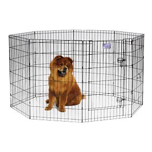 "Black E-Coat Exercise Pen, 36"" x 24"""