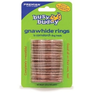 Busy Buddy Flavored Cornstarch Gnawhide Rings, Medium | VetDepot.com