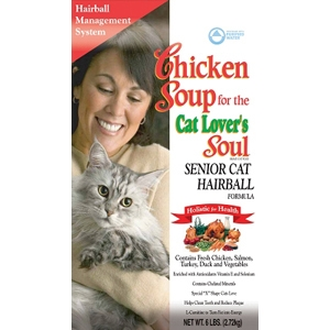 Chicken Soup Senior Cat & Hairball Formula Dry Food, 6 lb - 6 Pack