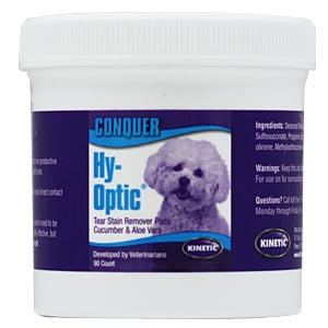 Conquer Hy-Optic Eye Care Tear Stain Remover Pads, 90 Pads