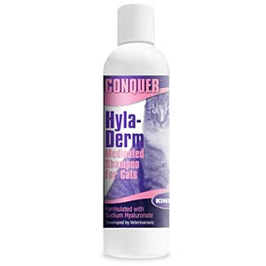 Conquer Hyla-Derm Medicated Shampoo for Cats, 8 oz