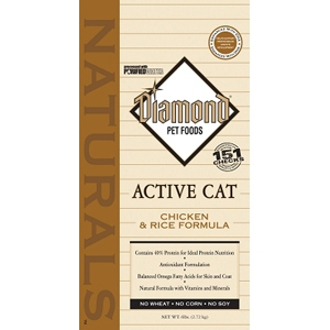 Diamond Naturals Active Cat Formula, 6 lb - 6 Pack
