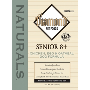 Diamond Naturals Senior 8+ Dog Formula, 35 lb