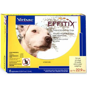 Effitix Topical Solution for Dogs Up To 22.9 lbs, 6 Pack | VetDepot.com