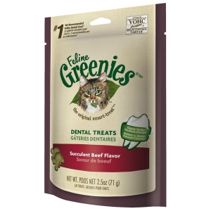 Feline Greenies Beef Flavor, 3 oz - 10 Pack