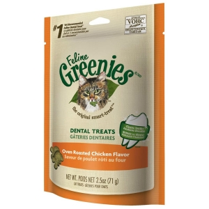 Feline Greenies Chicken Flavor, 3 oz - 10 Pack