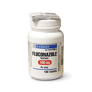 Fluconazole 100 mg, 100 Tablets