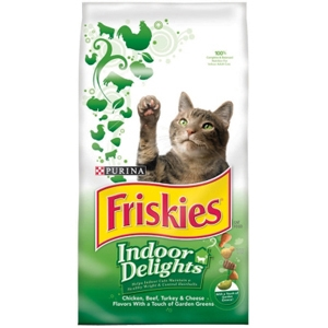 Friskies Indoor Delights Cat Food, 3.5 lb - 6 Pack