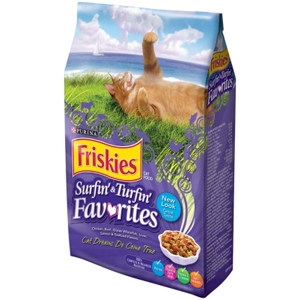 Friskies Surfin' & Turfin' Favorites Cat Food, 3.5 lb - 6 Pack