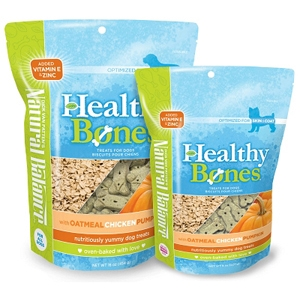 Healthy Bones Oatmeal, Chicken & Pumpkin Dog Treats, 8 oz - 12 Pack
