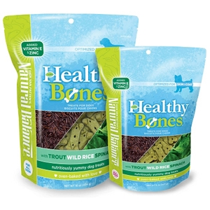 Healthy Bones Trout, Wild Rice & Spinach Dog Treats, 16 oz - 12 Pack