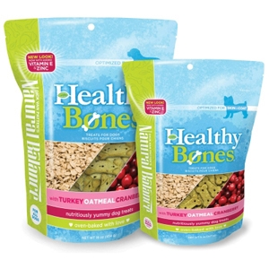 Healthy Bones Turkey, Oatmeal & Cranberry Dog Treats, 16 oz - 12 Pack