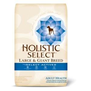 Holistic Select Large Breed Dog Food Chicken & Oatmeal, 30 lb