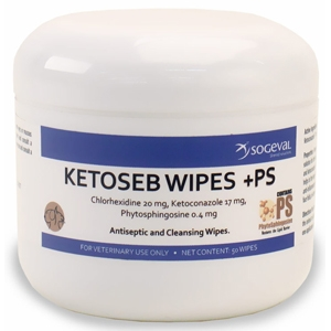 Ketoseb +PS Wipes, 60 Wipes