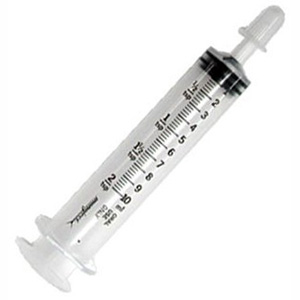 Monoject Oral Medication Syringe with Tip Cap, 6 mL - 100 Pack