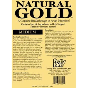Natural Gold for Medium Birds, 30 lb