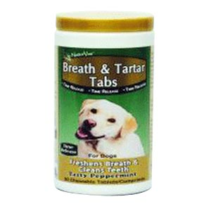 NaturVet Breath and Tartar Tabs, 90 Tablets