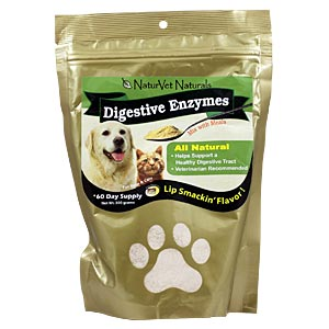 NaturVet Digestive Enzymes Powder, 10 oz