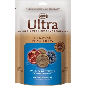 Nutro Ultra Natural Dog Treats Blueberry & Pomegranate, 16 oz - 8 Pack