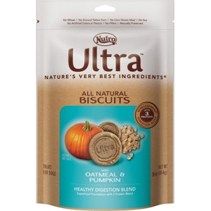 Nutro Ultra Natural Dog Treats Oatmeal & Pumpkin, 16 oz - 8 Pack