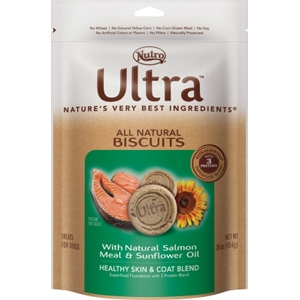 Nutro Ultra Natural Dog Treats Salmon & Sunflower Oil, 16 oz - 8 Pack