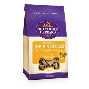 Old Mother Hubbard ChickNApples Mini Dog Biscuits, 20 oz - 6 Pack