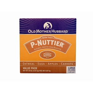 Old Mother Hubbard P-Nuttier Large Dog Biscuits, 20 lb