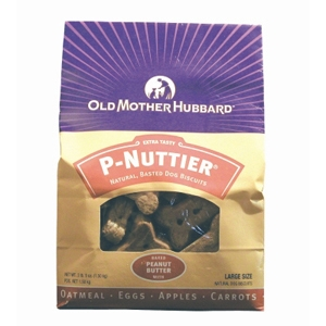 Old Mother Hubbard P-Nuttier Large Dog Biscuits, 3.3 lb - 4 Pack
