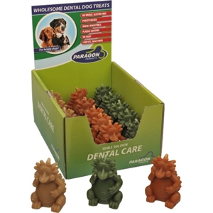 Paragon Large Hedgehog Dental Chews for Dogs, 18 ct