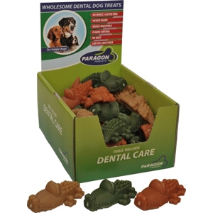 Paragon Large Alligator Dental Chews for Dogs, 30 ct