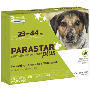 Parastar Plus for Dogs 23-44 lbs, 3 Pack | VetDepot.com