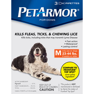PetArmor for Dogs 23-44 lbs, 3 Pack