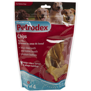 Petrodex Dental Chips for Medium Dogs, 5 oz | VetDepot.com