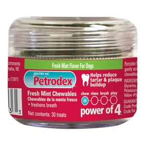 Petrodex Fresh Mint Chewables, 30 Treats | VetDepot.com