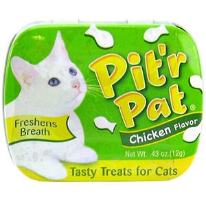 Pitr Pat Cat Breath Treats Chicken Flavor, .43 oz | VetDepot.com