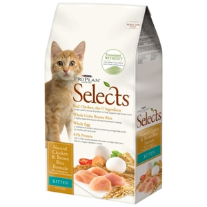 Pro Plan Selects Kitten Food Chicken & Brown Rice, 3.5 lb - 6 Pack